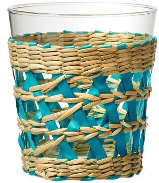Global Amici La Bamba 13 oz. Old Fashioned Glass in Aqua