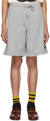 Gucci Grey Logo Shorts
