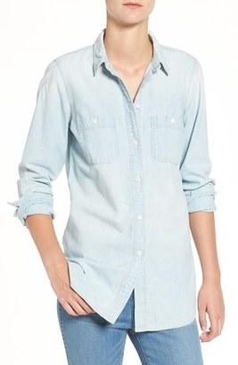 Madewell Ex-Boyfriend Slim Chambray Shirt $72 thestylecure.com