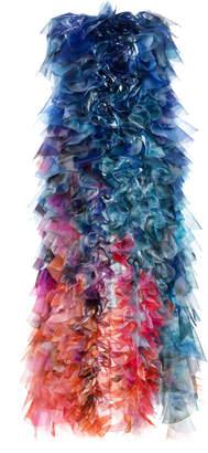 Mary Katrantzou Degradé Ruffled Organza Gown