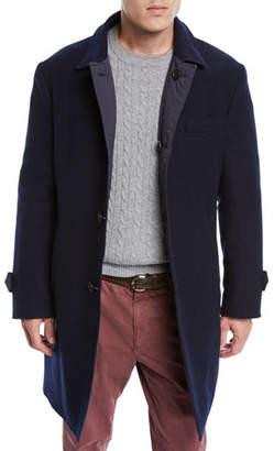 Brunello Cucinelli Men's Reversible Wool/Cashmere Coat