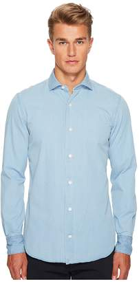 Eleventy Chambray Spread Collar Button Down