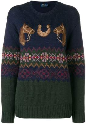 Polo Ralph Lauren motif knit sweater