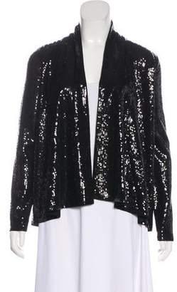 Alice + Olivia Sequin-Embellished Open Front Jacket