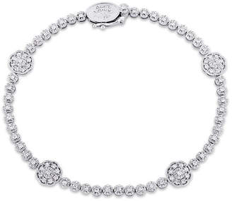 Laura Ashley FINE JEWELRY Laura Asley 7/8 CT. T.W. Genuine White Diamond 10K Gold 7.25 Inch Tennis Bracelet