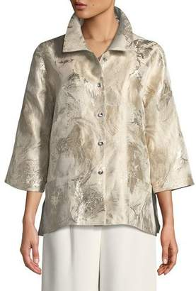 Caroline Rose Sitting Pretty Jacquard Occasion Shirt, Plus Size