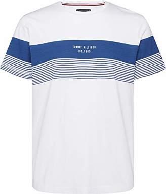 82afda58f108bd Tommy Hilfiger Men's Block Stripe Tee T-Shirt
