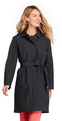 Lands' End Black Petite Hooded Waterproof Raincoat