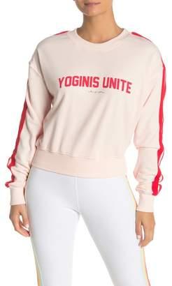 Spiritual Gangster Yoginis Unite Sleeve Stripe Sweatshirt