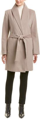 T Tahari Missy Gabrielle Wool-Blend Wrap Coat