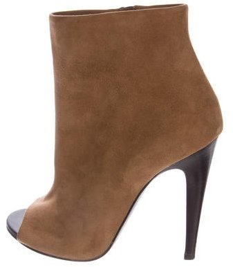 Bottega VenetaBottega Veneta Chene Peep-Toe Ankle Boots