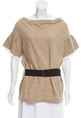 3.1 Phillip Lim Metallic Wool-Blend Top