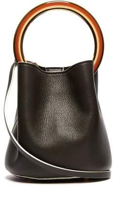 Marni Pannier Leather Bucket Bag - Womens - Khaki