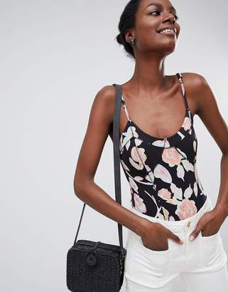 Free People Next Up Printed Corset Cami Top