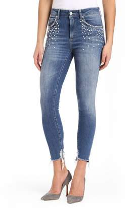 Mavi Jeans Tess Faux Pearl Skinny Jeans