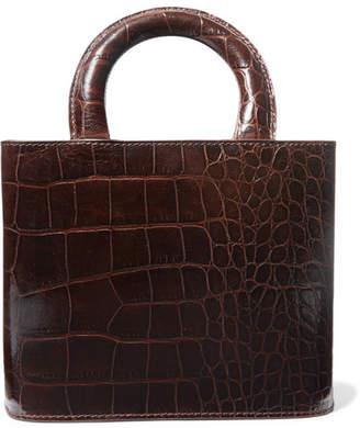 STAUD Nic Croc-effect Leather Tote