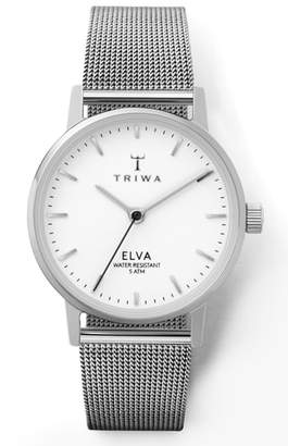 Triwa Pearl Elva Mesh Strap Watch, 28mm