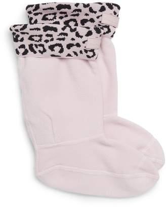 Hunter Snow Leopard Cuffed Boot Socks