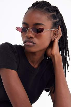 Urban Outfitters Heartless Slim Sunglasses