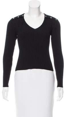 Haute Rib Knit Merino Wool Sweater w/ Tags
