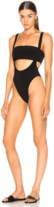 Norma Kamali Marissa Suspender Swimsuit Black