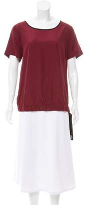 MICHAEL Michael Kors Tie-Accented Short Sleeve Top