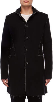 Primordial Is Primitive Wool Single-Breasted Coat