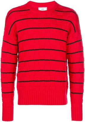 Ami Alexandre Mattiussi Striped Oversized Sweater
