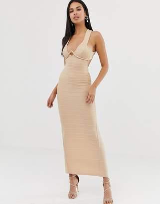 Asos Design DESIGN v bar bandage maxi dress