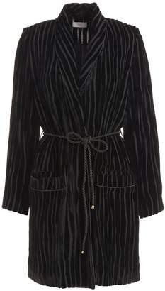 Wolf & Badger Serrano Black Velvet Wrap Jacket