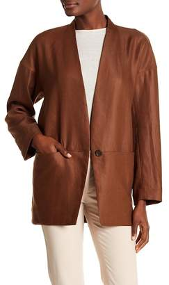 Lafayette 148 New York Zoelle Long Sleeve Topper Jacket