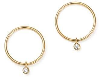 Chicco Zoë 14K Yellow Gold Circle Earrings with Diamonds
