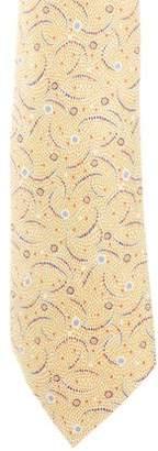 Hermes Abstract Print Silk Tie