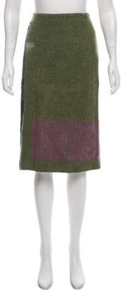 Dries Van Noten Wool & Mohair-Blend Skirt
