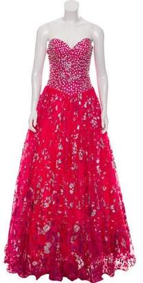 Jovani Sequined Strapless Gown w/ Tags