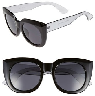 Women's A.j. Morgan 'Beam' 50Mm Sunglasses - Black $24 thestylecure.com
