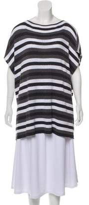 eskandar Oversize Striped Top