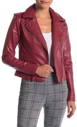 Romeo & Juliet Couture Multi Zip Faux Leather Moto Jacket