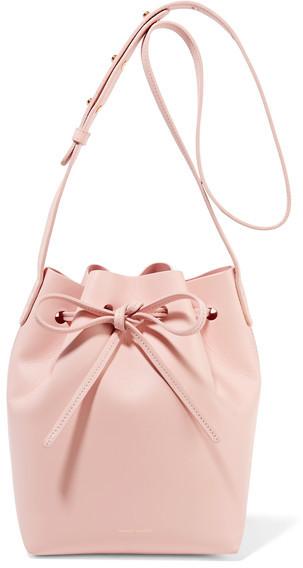 Mansur Gavriel Mini Leather Bucket Bag - Pastel pink