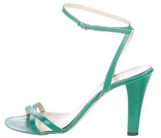 Marc Jacobs Leather Crossover Sandals