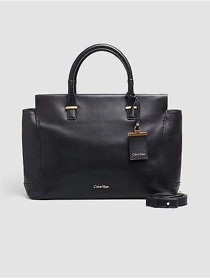 Calvin KleinCalvin Klein Womens Smooth Leather Hobo Black