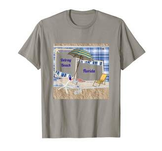 Svc T Shirts Delray Beach Florida Beach Umbrella Shirt T-Shirt