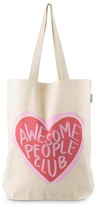 Oliver Bonas Awesome People Club Canvas Shopper Bag