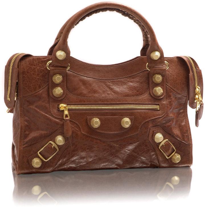 Balenciaga Studded City Leather Bag