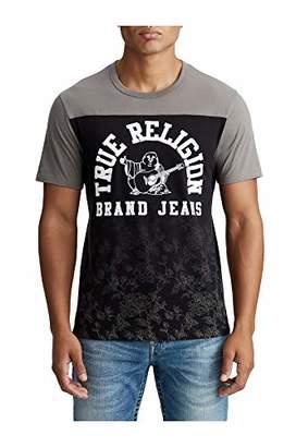 True Religion Men's Floral Graphic Football Tee
