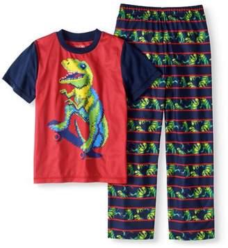 Cherokee Boys' Dinosaur Print 2 Piece Pajama Sleep Set (Big Boys & Little Boys)