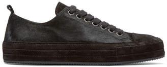 Ann Demeulemeester Black Calf-Hair Sneakers