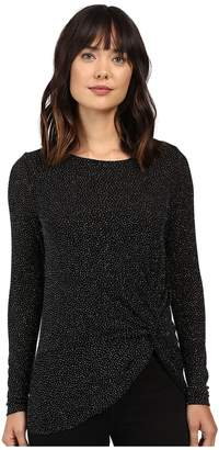 Karen Kane Diamond Dust Side-Twist Top Women's Clothing