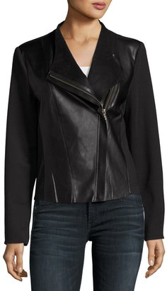 P. Luca Asymmetric Zip-Front Jacket, Black $79 thestylecure.com