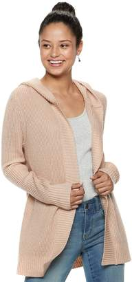 Mudd Juniors' Ribbed Hooded Cardigan